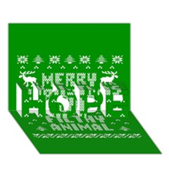 Ugly Christmas Ya Filthy Animal HOPE 3D Greeting Card (7x5)