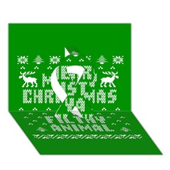 Ugly Christmas Ya Filthy Animal Ribbon 3D Greeting Card (7x5)