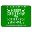 Ugly Christmas Ya Filthy Animal Samsung Galaxy Tab 10.1  P7500 Flip Case View1