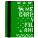Ugly Christmas Ya Filthy Animal Samsung Galaxy Tab 10.1  P7500 Flip Case View2