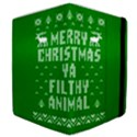 Ugly Christmas Ya Filthy Animal Samsung Galaxy Tab 10.1  P7500 Flip Case View4