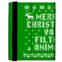Ugly Christmas Ya Filthy Animal Samsung Galaxy Tab 8.9  P7300 Flip Case View3