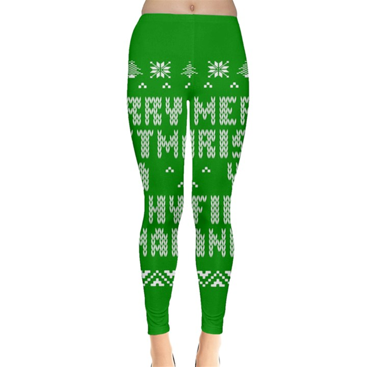 Ugly Christmas Ya Filthy Animal Leggings