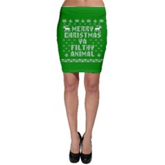 Ugly Christmas Ya Filthy Animal Bodycon Skirt