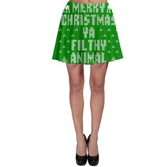 Ugly Christmas Ya Filthy Animal Skater Skirt
