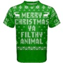 Ugly Christmas Ya Filthy Animal Men s Cotton Tee View1