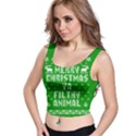 Ugly Christmas Ya Filthy Animal Crop Top View1