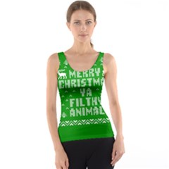 Ugly Christmas Ya Filthy Animal Tank Top
