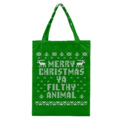 Ugly Christmas Ya Filthy Animal Classic Tote Bag