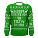 Ugly Christmas Ya Filthy Animal Men s Long Sleeve Tee View1