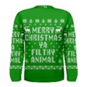 Ugly Christmas Ya Filthy Animal Men s Long Sleeve Tee View2