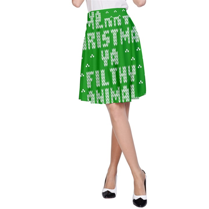 Ugly Christmas Ya Filthy Animal A-Line Skirt