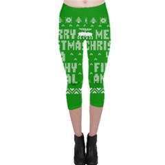 Ugly Christmas Ya Filthy Animal Capri Leggings