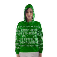 Ugly Christmas Ya Filthy Animal Hooded Wind Breaker (Women)
