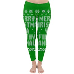 Ugly Christmas Ya Filthy Animal Winter Leggings