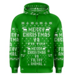 Ugly Christmas Ya Filthy Animal Men s Zipper Hoodie
