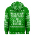Ugly Christmas Ya Filthy Animal Men s Zipper Hoodie View2