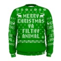 Ugly Christmas Ya Filthy Animal Men s Sweatshirt View1