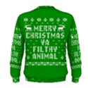 Ugly Christmas Ya Filthy Animal Men s Sweatshirt View2