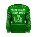 Ugly Christmas Ya Filthy Animal Women s Sweatshirt View1