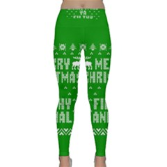 Ugly Christmas Ya Filthy Animal Yoga Leggings