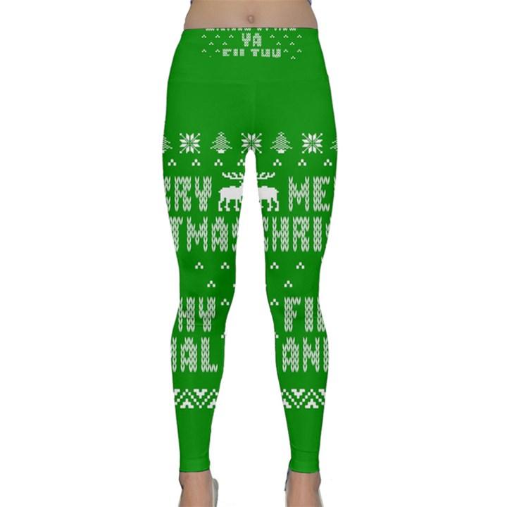 Ugly Christmas Ya Filthy Animal Yoga Leggings