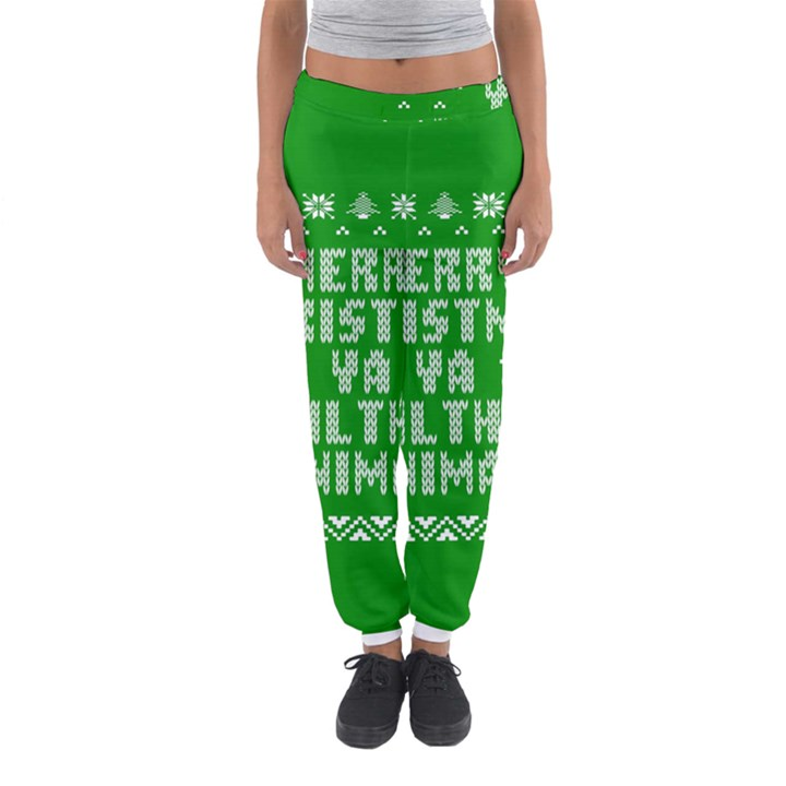 Ugly Christmas Ya Filthy Animal Women s Jogger Sweatpants