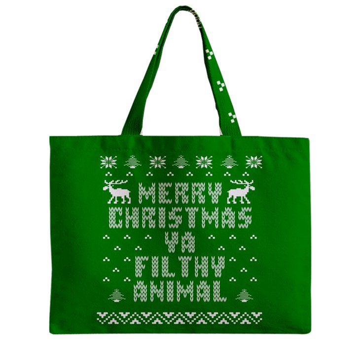 Ugly Christmas Ya Filthy Animal Zipper Mini Tote Bag