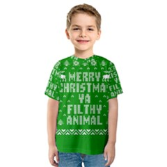 Ugly Christmas Ya Filthy Animal Kids  Sport Mesh Tee