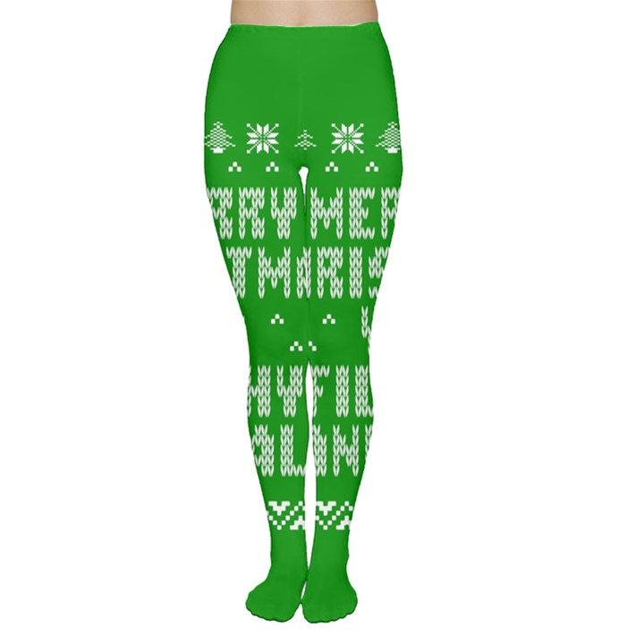 Ugly Christmas Ya Filthy Animal Women s Tights