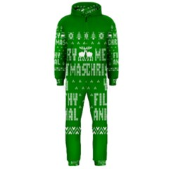 Ugly Christmas Ya Filthy Animal Hooded Jumpsuit (men)