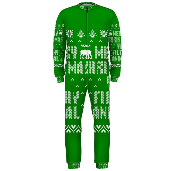 Ugly Christmas Ya Filthy Animal OnePiece Jumpsuit (Men)