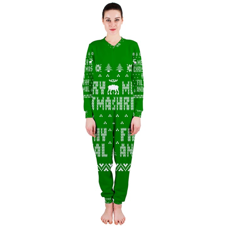 Ugly Christmas Ya Filthy Animal OnePiece Jumpsuit (Ladies)