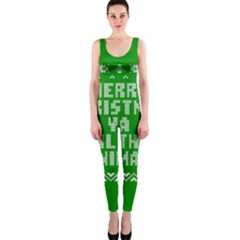 Ugly Christmas Ya Filthy Animal OnePiece Catsuit