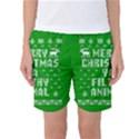Ugly Christmas Ya Filthy Animal Women s Basketball Shorts View1