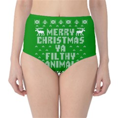 Ugly Christmas Ya Filthy Animal High-Waist Bikini Bottoms