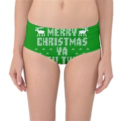 Ugly Christmas Ya Filthy Animal Mid-Waist Bikini Bottoms