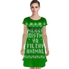 Ugly Christmas Ya Filthy Animal Cap Sleeve Nightdress