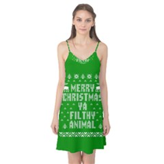 Ugly Christmas Ya Filthy Animal Camis Nightgown
