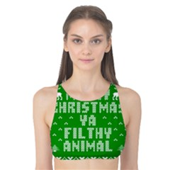 Ugly Christmas Ya Filthy Animal Tank Bikini Top