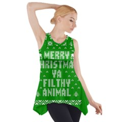 Ugly Christmas Ya Filthy Animal Side Drop Tank Tunic