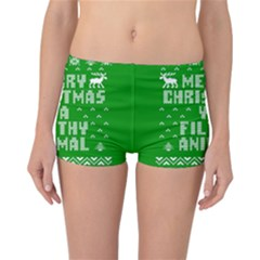 Ugly Christmas Ya Filthy Animal Reversible Boyleg Bikini Bottoms