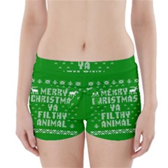 Ugly Christmas Ya Filthy Animal Boyleg Bikini Wrap Bottoms