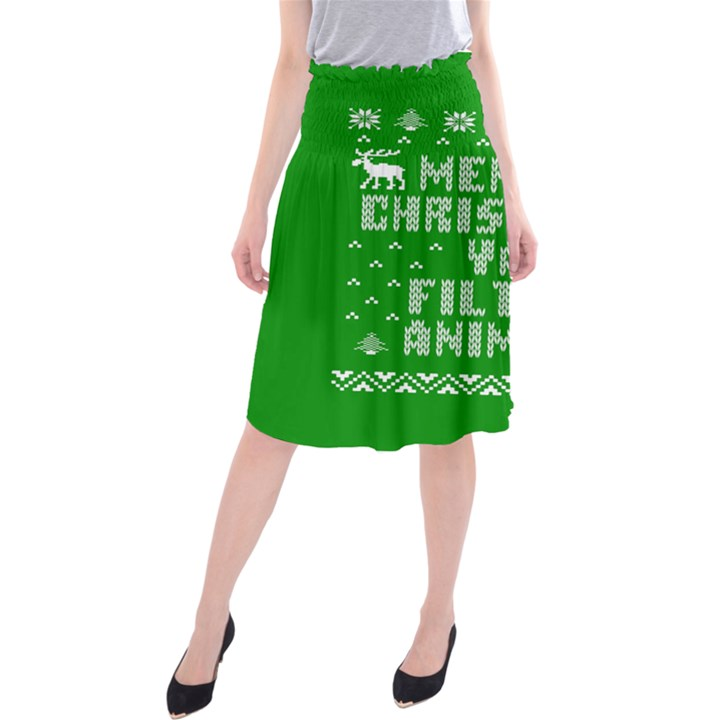 Ugly Christmas Ya Filthy Animal Midi Beach Skirt