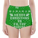 Ugly Christmas Ya Filthy Animal High-Waisted Bikini Bottoms View1