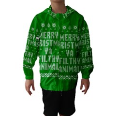 Ugly Christmas Ya Filthy Animal Hooded Wind Breaker (Kids)