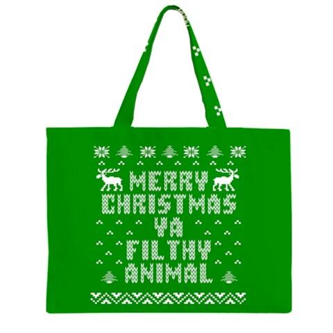 Ugly Christmas Ya Filthy Animal Large Tote Bag