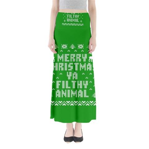 Ugly Christmas Ya Filthy Animal Maxi Skirts