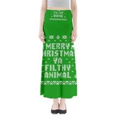 Ugly Christmas Ya Filthy Animal Maxi Skirts