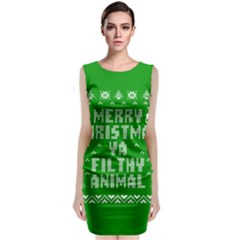 Ugly Christmas Ya Filthy Animal Classic Sleeveless Midi Dress